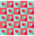 Blue and pink hearts in flat style vector