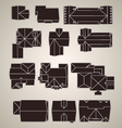 Set of houses top view vector