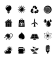 Silhouette ecology nature and environment icons vector