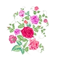 Roses branch floral background vector