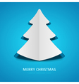 Christmas tree from cut paper background vector