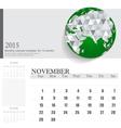 Simple 2015 calendar november vector