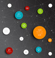 Abstract circles infographic network template vector