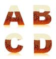 Alphabet dark beer vector