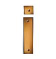 Wooden type i vector