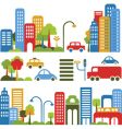 Cute city design elements vector
