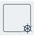 Marine background with steering wheel vector