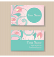 Business card pink vector