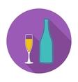 Wine flat icon vector