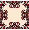 Ornate frame for text in red and light brown color vector