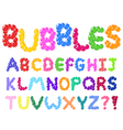 Bubbles alphabet vector