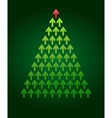 Arrow christmas tree business theme vector