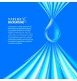 Blue water drop background vector