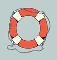 Detailed outlines colored nautical life buoy vector