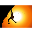 Cliff hanger vector