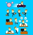 Businessman in a hurry busy day vector