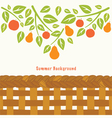 Fruit tree branch vector