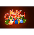 Christmas greeting card template with decorations vector