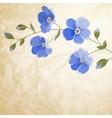 Blossoming flower brunch vector