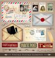 Vintage postmarks vector