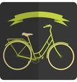 Retro styled image green and beige bicycle vector