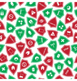 Red and green security shields pattern eps10 vector