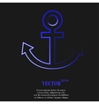Anchor flat modern web button and space for your vector