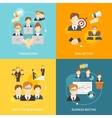 Teamwork icons flat vector