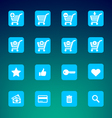 Set of various e-shop icons - shopping carts vector