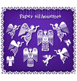 Paper silhouettes of angels vector