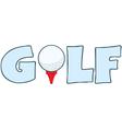 Golf ball logo vector