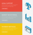 Flat design concept for support marketing payment vector