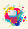 Bank cards on abstract colorful spotted background vector