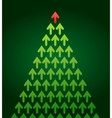Arrow christmas tree business theme vector