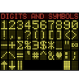 Symbols and digits matrix vector