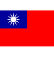Flag of the republic of china vector