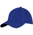 Cap blue denim vector