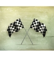 Racing flags old-style vector