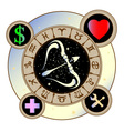 Signs of the zodiac icons medicine work heart vector