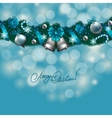 New years background - a garland of fir branches vector