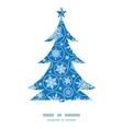 Falling snowflakes christmas tree silhouette vector