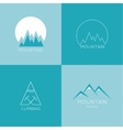 Mountains in box vector