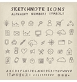 Doodle icons vector