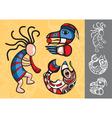Set of stylish american indian symbols vector