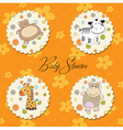 Cartoon baby toys items collection vector
