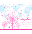 Abstract pink support ribbon background vector