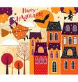 Halloween holiday card vector