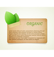 Eco friendly paper template banner vector