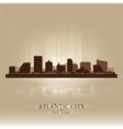 Atlantic city new jersey skyline city silhouette vector