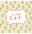 Easter greeting card background vector
